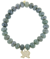 Sydney Evan Diamond Texas Charm On Blue Silverite Beaded Bracelet