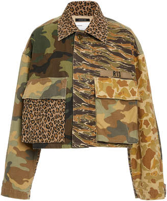 R 13 Abu Camo Cropped Jacket