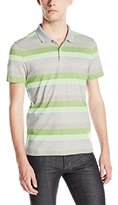 Calvin Klein Men's Liquid Cotton Short-Sleeve Yarn Dye Polo Shirt
