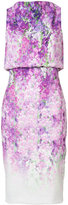 Badgley Mischka orchid print sleeveless dress - women - Polyester/Spandex/Elastane - 4