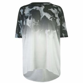 Firetrap Womens Batwing T Shirt Short Sleeves (Black Fade 18 (XXL))