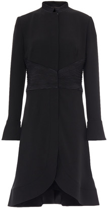 Giorgio Armani Cutout Pintucked Silk-crepe Dress