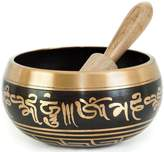 Aone India OmStore Tibetan Singing Bowl Set For Yoga Meditation & Heart Chakra Healing With Cushion & Mallet Sacral Buddhist 4 Inch From Nepal Bonus eBook + Cash Envelope (Pack Of 10)