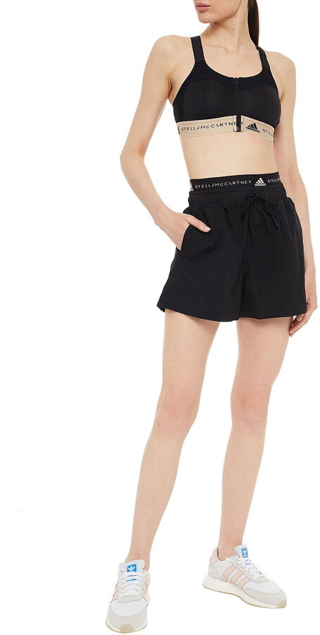 Thumbnail for your product : adidas by Stella McCartney Printed Shell Shorts