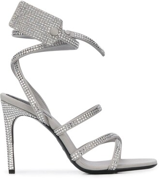 Off-White Zip-tie crystal-embellished sandals
