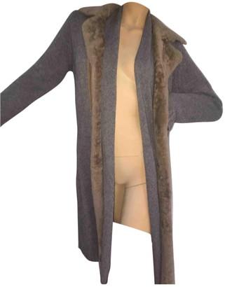 Steffen Schraut Grey Cashmere Coat for Women