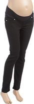 Black Under-Belly Stretch Twill Maternity Skinny Pants