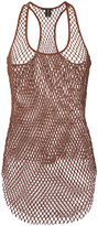 Alexandre Vauthier mesh tank top - women - Cotton - 1