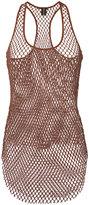Alexandre Vauthier mesh tank top - women - Cotton - 2