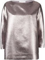 Gianluca Capannolo metallic loose-fit blouse