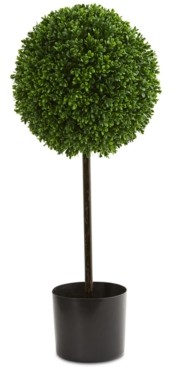 Nearly Natural 2.5' Boxwood Ball Indoor/Outdoor Faux Topiary