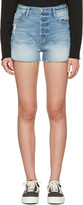 Frame Blue Denim Le Original Tulip Shorts