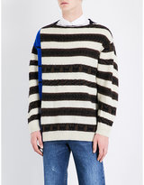 Dries Van Noten Tapio Striped Knitted Wool-blend Jumper