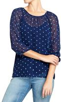 Old Navy Women's Scoop-Neck Chiffon Blouses