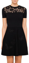 Valentino Viscose Dress With Butterfly