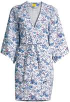 Roller Rabbit Charlie & Friends Floral Kimono Robe
