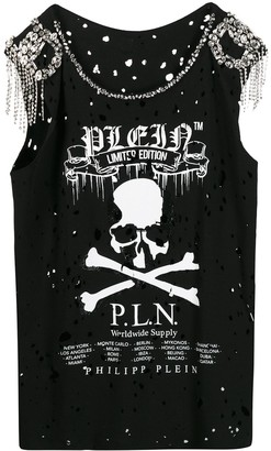 Philipp Plein Skull Print Tank Top