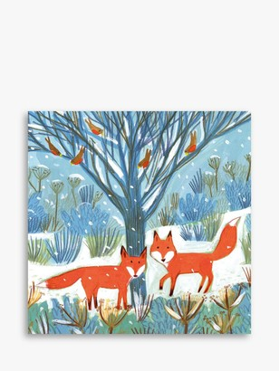 Museums & Galleries Festive Foxes Charity Christmas Cards, Pack of 8