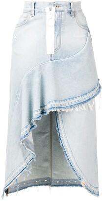 Off-White Asymmetric Denim Skirt