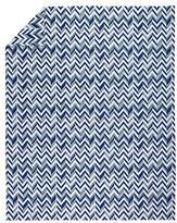 Full-Queen Little Prints Duvet Cover (Blue Zig Zag)