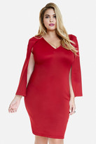 Fashion to Figure Hoxton Scuba Cape Dress