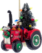 Kurt Adler Noble Gems Tractor Ornament