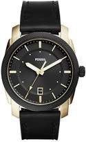 Fossil Men's Machine Leather Strap Watch, 42mm