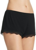 Only Hearts Feather Weight Rib Lace-Trim Shorts