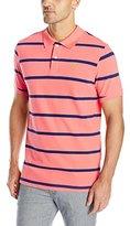 U.S. Polo Assn. Men's Stripe Pique Polo Shirt