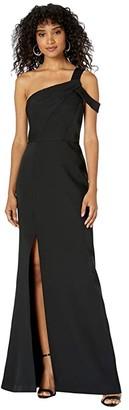 BCBGMAXAZRIA One Shoulder Gown (Black) Women's Dress