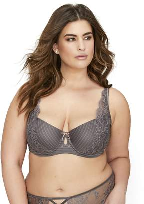 Ashley Graham Balconette Bra with Lace Details