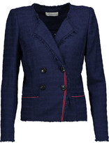 Etoile Isabel Marant Flynn Fringed Cotton-Blend Tweed Blazer
