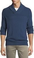 Neiman Marcus Cashmere Shawl-Collar Sweater