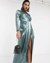 Asos Design DESIGN drape detail maxi dress