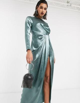 ASOS DESIGN drape detail maxi dress