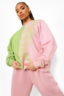 boohoo Dip Dye Tour Back Print Sweatshirt