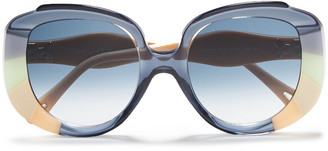 Chloé Butterfly-frame Printed Acetate Sunglasses