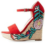 Charlotte Russe Patch Two-Piece Espadrille Wedge Sandals
