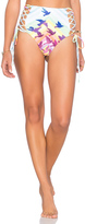 Mara Hoffman Lace Up High Waisted Bikini Bottom