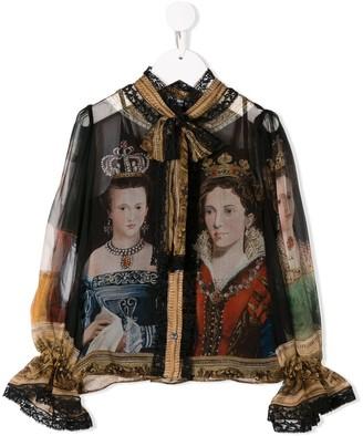 Dolce & Gabbana queen print shirt