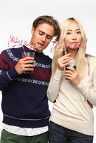 Urban Outfitters Krazy Holiday Word Straw - Set Of 2