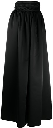 Wandering High-Waisted Full-Length Skirt