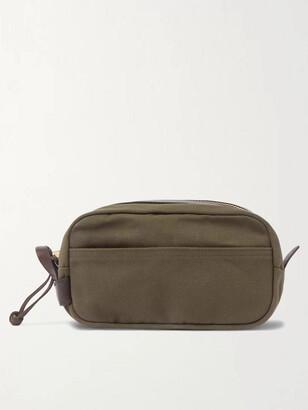 Filson Leather-Trimmed Cotton-Canvas Wash Bag