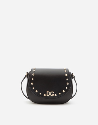 Dolce & Gabbana Calfskin Crossbody Bag With Logo