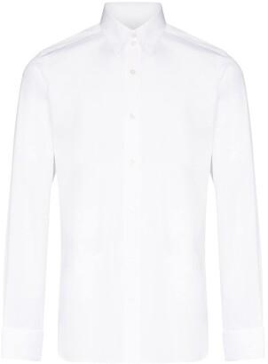 Tom Ford Spread-Collar Long-Sleeve Shirt