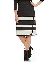 Pendleton Skyline Stripe Faux Wrap Skirt
