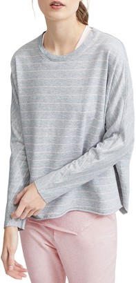 Frank And Eileen Oversized Continuous Stripe Print Lightweight Sweatshirt