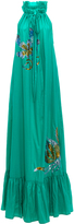 Cynthia Rowley Embellished Halter Maxi Dress