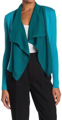 Diane von Furstenberg Haya Colorblock Draped Jacket