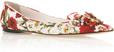 Dolce & Gabbana Floral Printed Flats with Embellished Toe